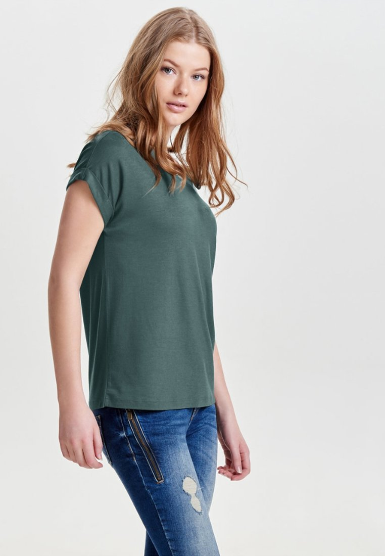 ONLY - ONLMOSTER O-NECK TOP - T-shirts - balsam green