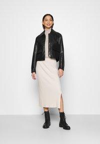 Monki - LOA SKIRT - Pencil skirt - beige - 1