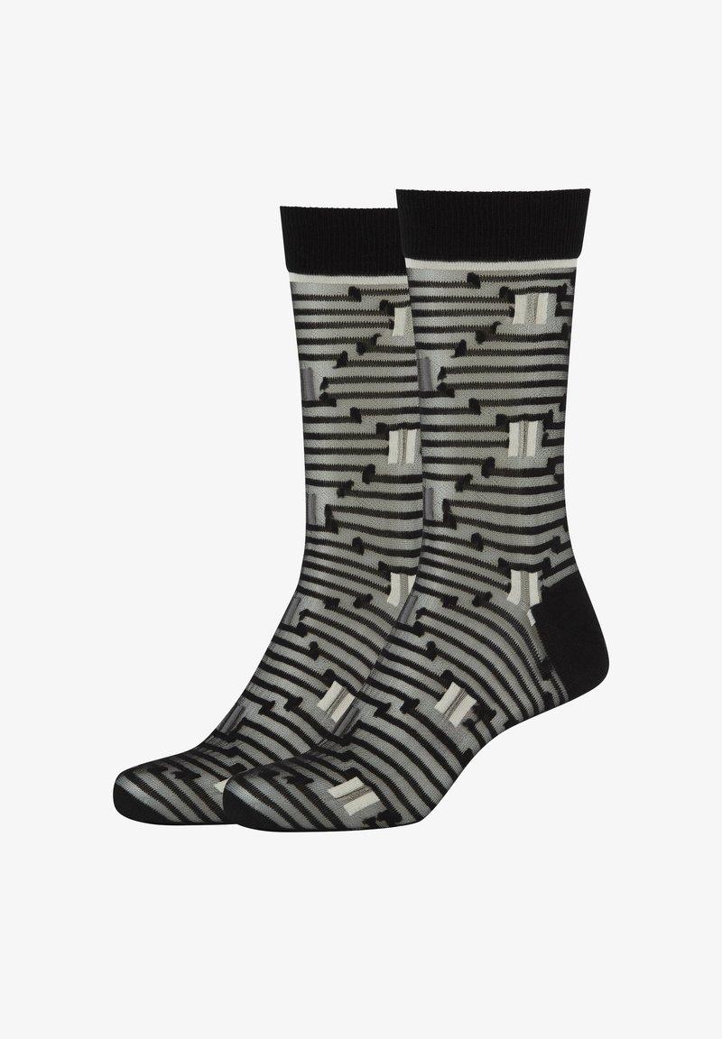 Fun Socks - 2ER-PACK OPTIC STRIPES - Socks - black mix