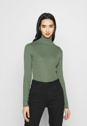 HIGH NECK - Jumper - khaki