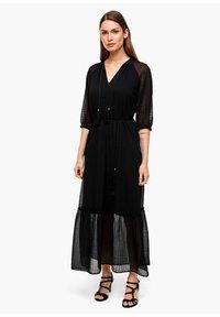 s.Oliver BLACK LABEL - CHIFFONKLEID MIT TRANSPARENZ-EFFEKT - Maxi dress - black - 1