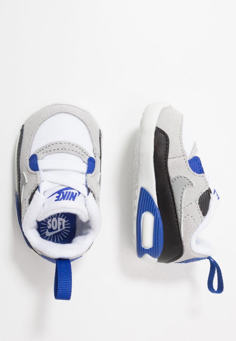 Nike Sportswear - MAX 90 CRIB - Patucos - white/particle grey/light smoke grey/hyper blue/black