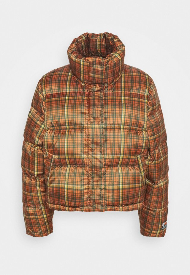 TISLEI  CHECK JACKET - Down jacket - orange