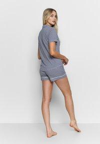 s.Oliver - SHORTY SET - Pyjama - blau/weiß - 2