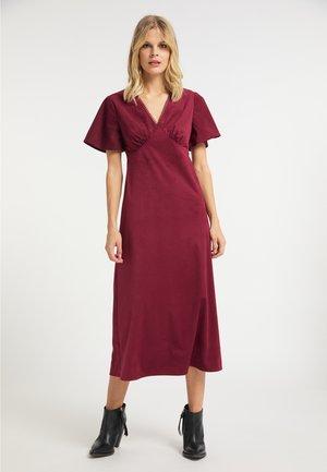 Korte jurk - bordeaux
