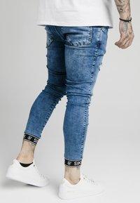 SIKSILK - CUFFED - Skinny džíny - blue - 4