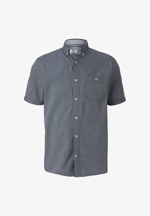 Shirt - navy white two face twill