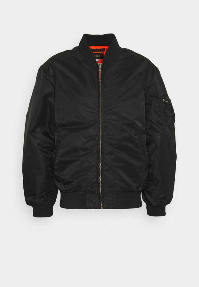 LIVEUTION REVERSIBLE JACKET UNISEX - Bomberjacks - black