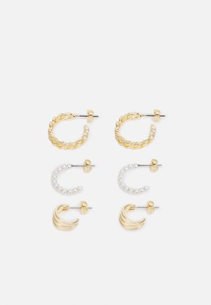 PCNANILLE EARRINGS 3 PACK - Náušnice - gold-coloured