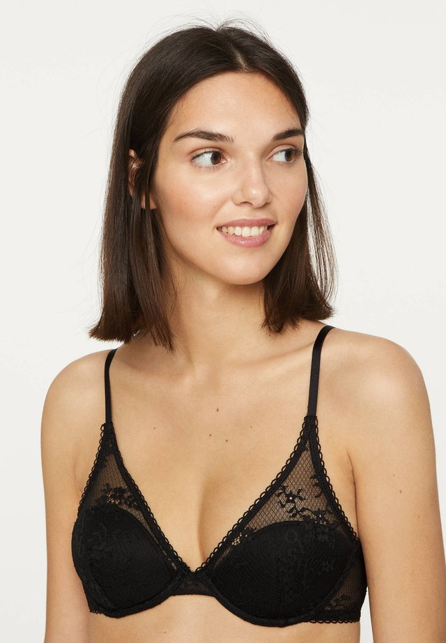 WITH LOGO  - Underwired bra - black