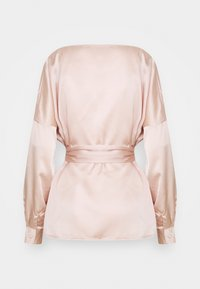 Missguided - OVERSIZED PLUNGE TIE WAIST BLOUSE - Blouse - champagne - 1
