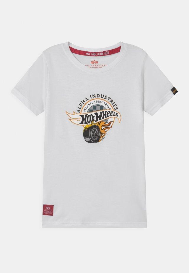 HOT WHEELS ALPHA - T-shirt print - white
