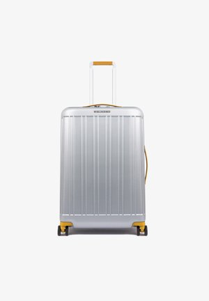 PIQUADRO RELYGHT PLUS 4-ROLLEN TROLLEY 67 CM - Wheeled suitcase - grey-yellow