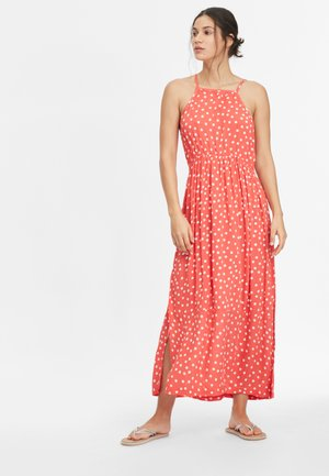 Maxi dress - red with white
