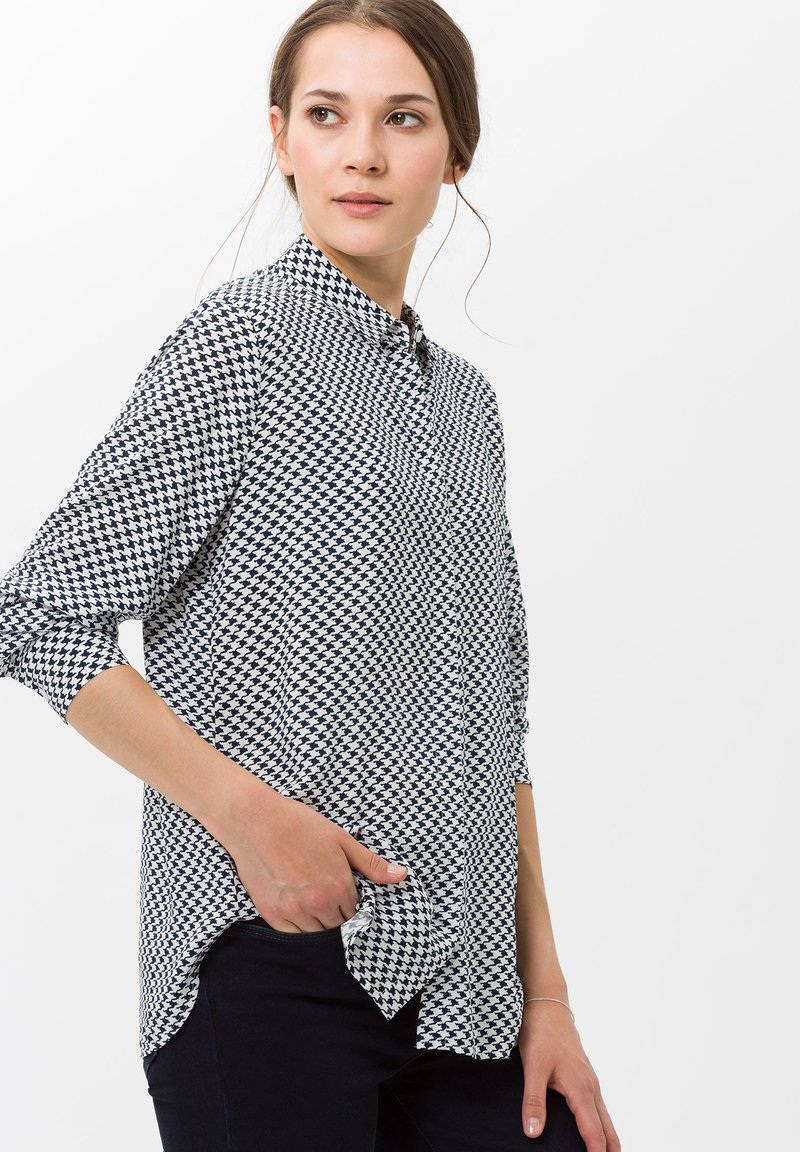 BRAX - STYLE VICTORIA - Button-down blouse - navy