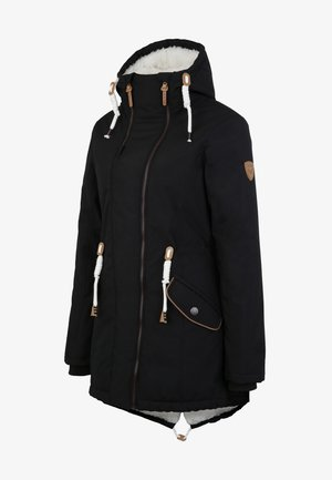 MIT TEDDY INNENFUTTER - Winter coat - black