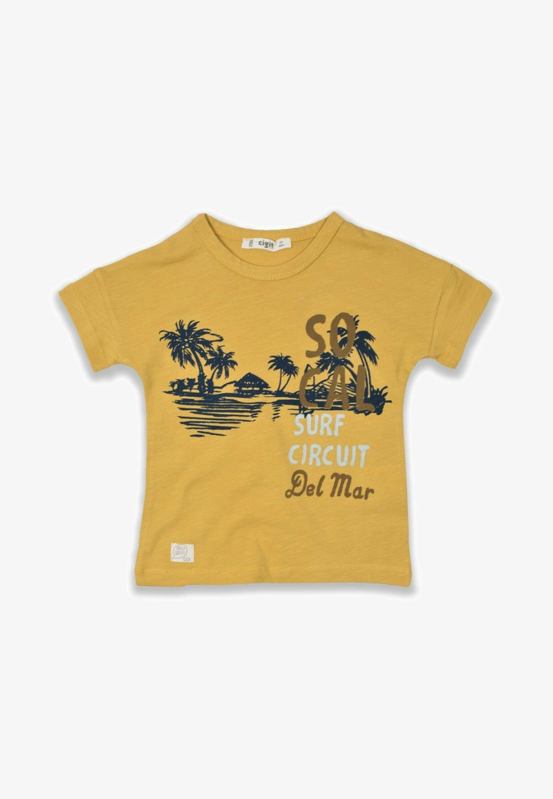 Cigit - SURF CIRCUIT - Print T-shirt - mustard yellow