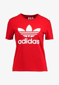 adidas Originals - ADICOLOR TREFOIL GRAPHIC TEE - Print T-shirt - scarlet - 3