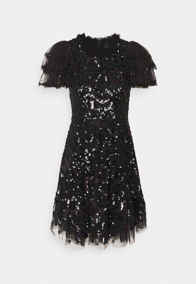 SHIRLEY RIBBON MINI DRESS - Koktejlové šaty/ šaty na párty - ballet black