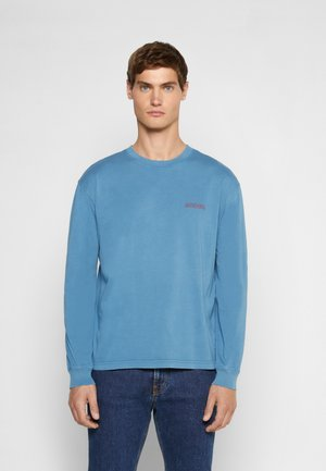 ROQUETTE AMOUR GOTS - Long sleeved top - slate blue washed