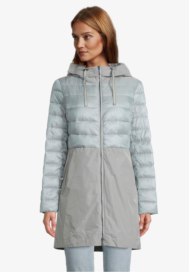 Amber & June - MIT KAPUZE - Winter coat - rauchblau