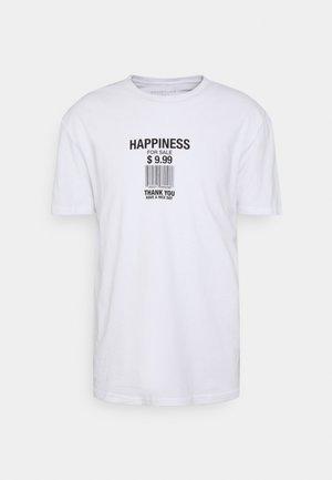 UNISEX LOOSE FIT - Print T-shirt - white