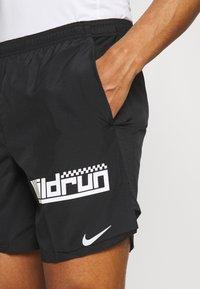 Nike Performance - Korte sportsbukser - black/white/silver - 3