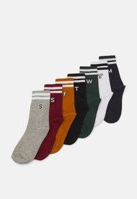 Urban Classics - COLLEGE LETTER SOCKS 7 PACK - Socks - multicolor - 0