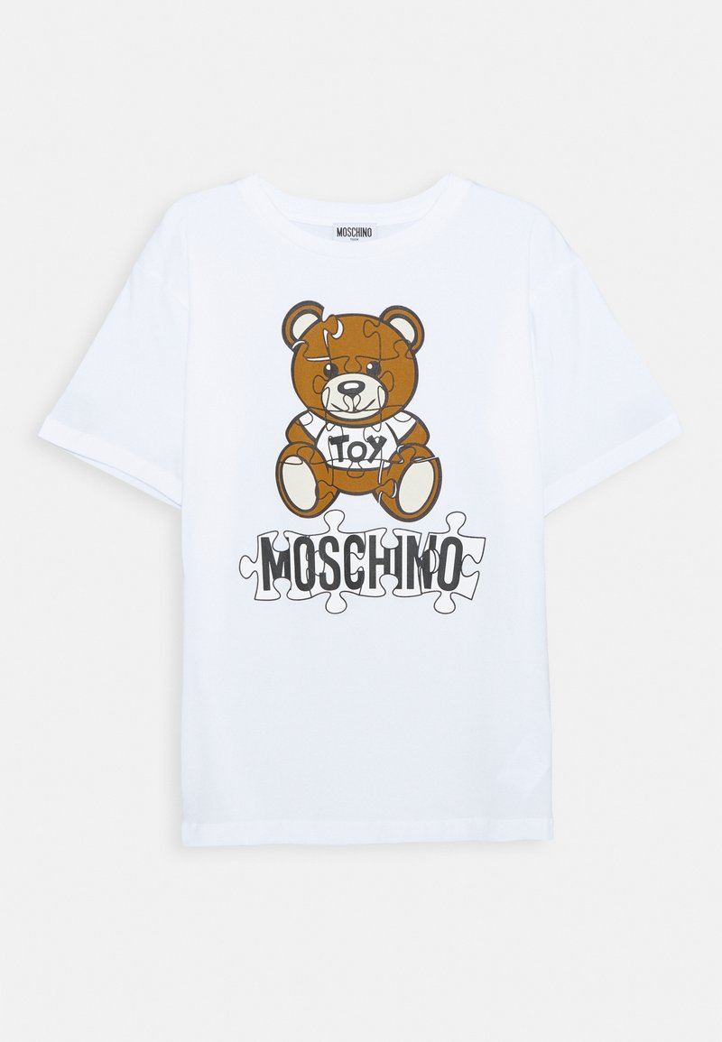 MOSCHINO - MAXI UNISEX - Camiseta estampada - optic white