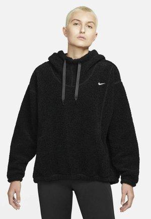 Fleece jumper - black/white