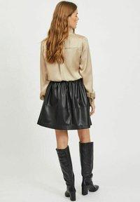 Vila - Button-down blouse - humus - 2
