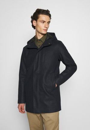 JJGEORGE HOODED COAT - Classic coat - dark navy