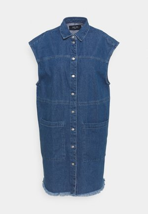 NMALMA DRESS  - Denimové šaty - medium blue denim