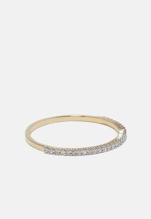 NATURAL DIAMOND RING 0.11CARAT HALF ETERNITY DIAMOND RINGS 9KT WHITE GOLD DIAMOND JEWELLERY GIFTS FOR WOMENS - Ring - white gold