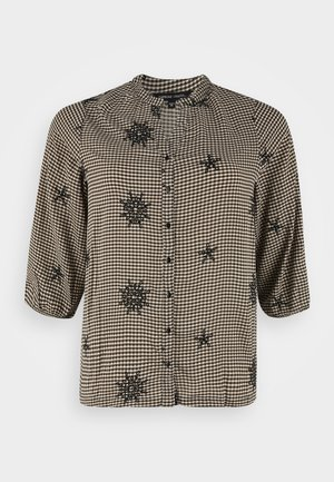 EMBROIDERED COLLARLESS - Blouse - multi-coloured