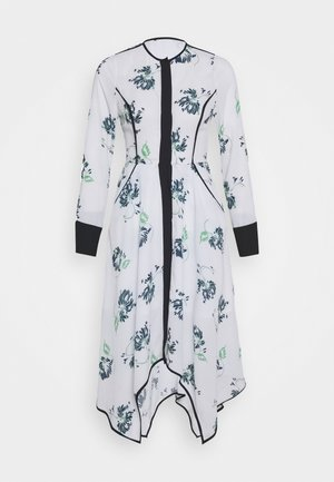 COLLARLESS DRESS - Shirt dress - crisantemo white