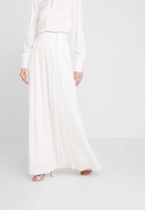 BRIDAL SKIRT WITH BUTTONS LONG - Maxi sukně - snow white