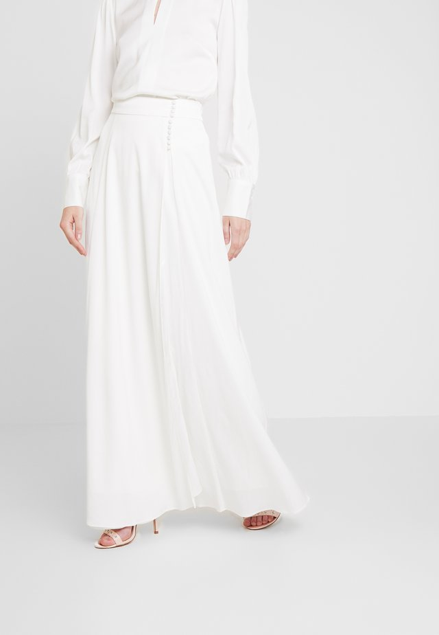 BRIDAL SKIRT WITH BUTTONS LONG - Maxi skirt - snow white