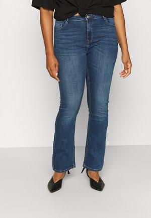 CARLAOLA LIFE - Flared Jeans - medium blue denim