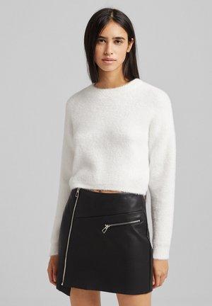 Fleece jumper - white