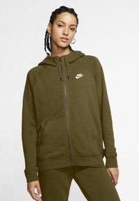 Nike Sportswear - Zip-up hoodie - olive flak/white - 0
