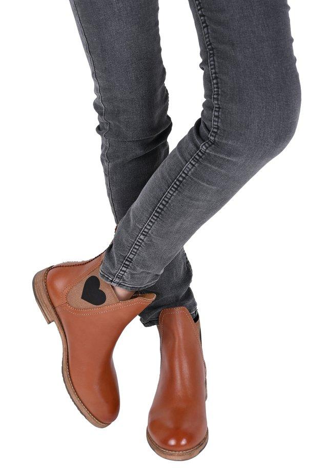JANE  - Classic ankle boots - cognac