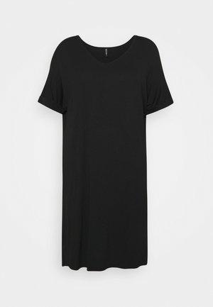 PCNEORA FOLD UP DRESS - Robe en jersey - black