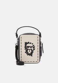 KARL LAGERFELD - IKONIK GRAFFITI CROSSBODY - Across body bag - natural - 1