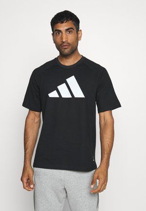 MUST HAVE ATHLETICS SHORT SLEEVE TEE - Triko s potiskem - black/white