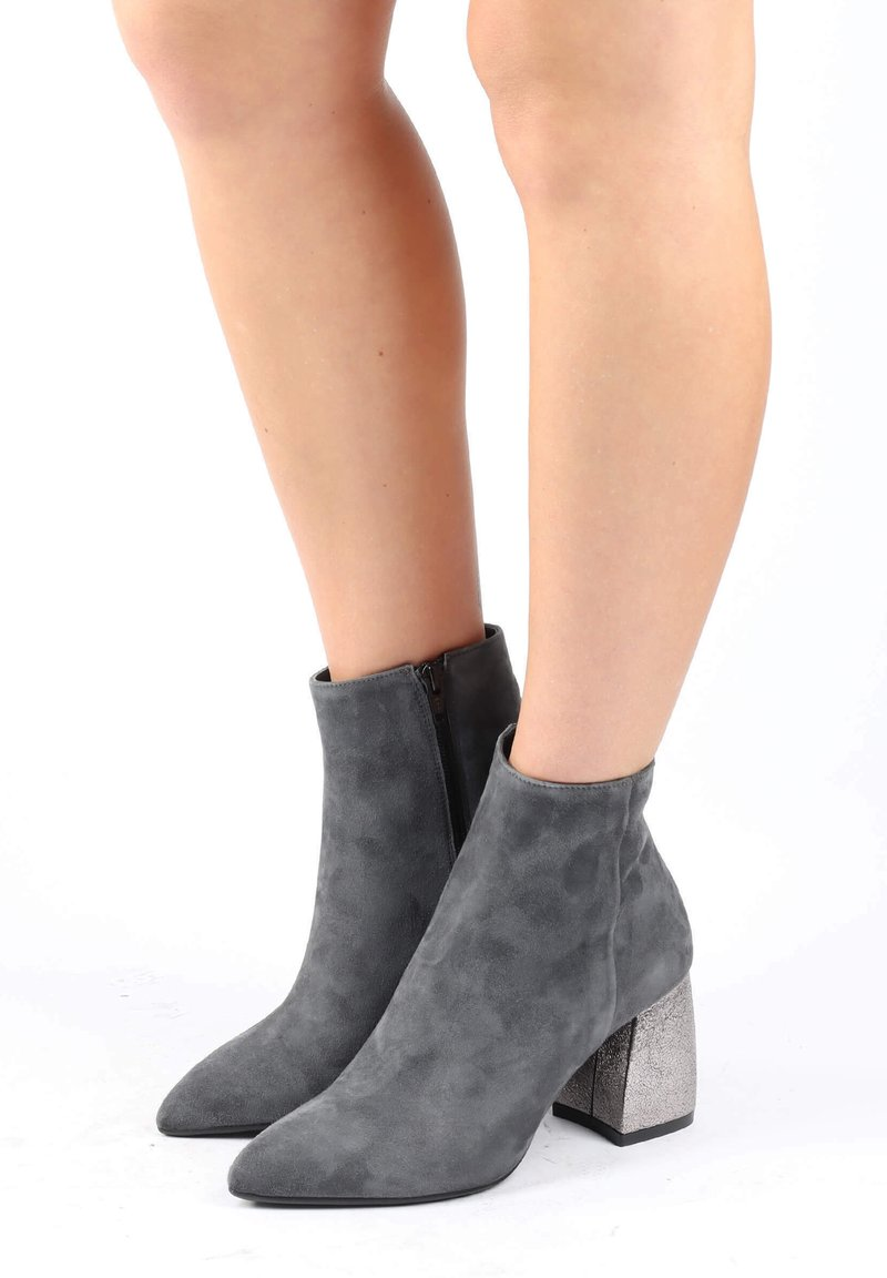 Thea Mika - Classic ankle boots - piombo