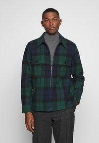 J.CREW - ZIP FRONT BLACKWATCH - Summer jacket - green black - 0