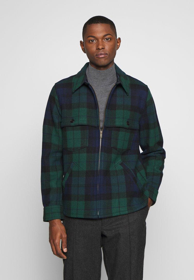J.CREW - ZIP FRONT BLACKWATCH - Summer jacket - green black