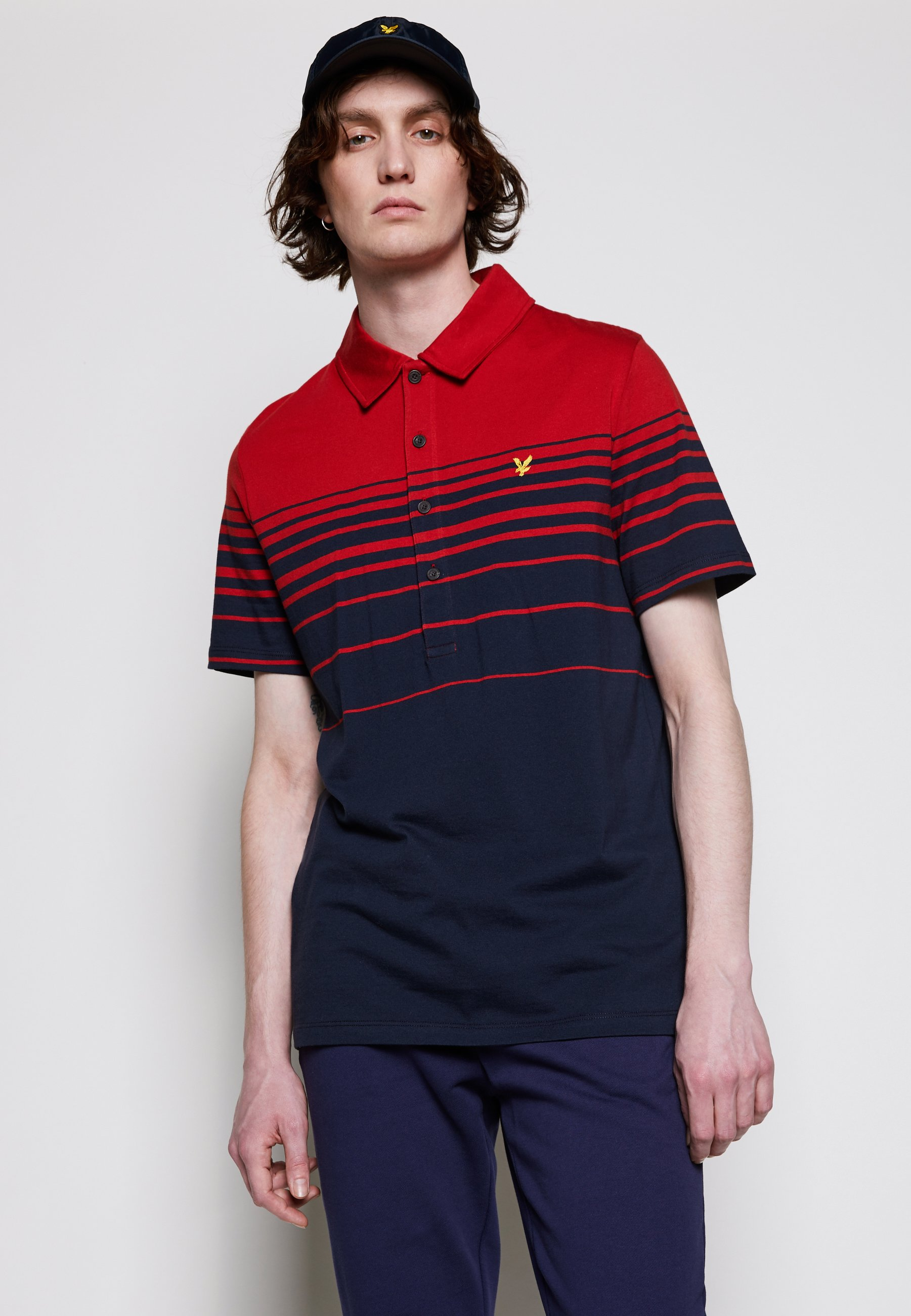 Men PLACEMENT STRIPE RELAXED FIT - Polo shirt