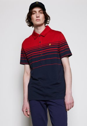 PLACEMENT STRIPE RELAXED FIT - Piké - chilli pepper red/dark navy